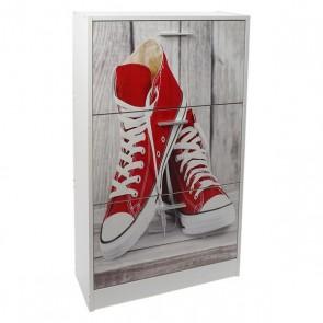 Scarpiera Dekodonia Legno Vintage Pantofole (60 x 24 x 115 cm)
