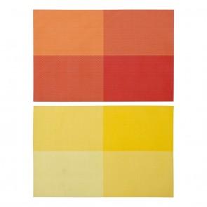 Tovaglietta Singola DKD Home Decor Giallo Arancio PVC (2 pcs) (45 x 31 x 0.5 cm)