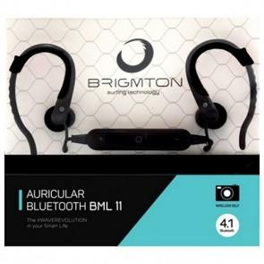 Auricolari con Microfono BRIGMTON BML-11-N Bluetooth Nero