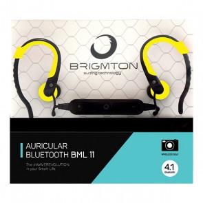 Auricolare Bluetooth Sportivo con Microfono BRIGMTON BML-11 Giallo