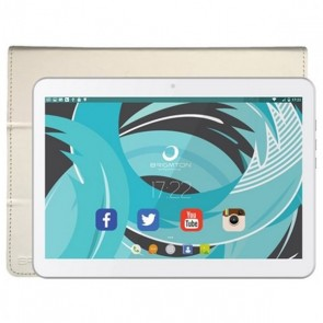 "Tablet con Custodia BRIGMTON BTPC-1021B-BTAC-108B 10,1"" Quad Core 1 GB RAM 16 GB Bianco"