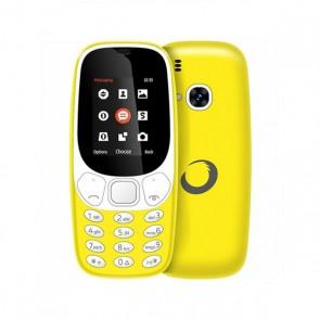 """Telefono Cellulare BRIGMTON 224388 Bluetooth Dual SIM Micro SD 1.7"""" Giallo Batteria ricaricabile al litio"""