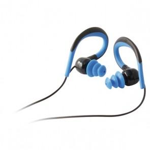 Auriculari Sportivi con Microfono Nero Azzurro