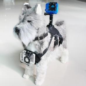 Imbracatura per Animali Domestici con Supporto per Fotocamera Sportiva KSIX Nero
