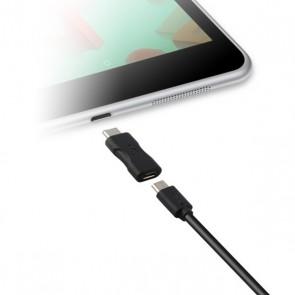 Adattatore USB 2.0 con USB-C 3.1 KSIX Nero