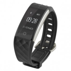 "Orologi Sportivi Fitness Band HR 0,96"" Bluetooth 90 mAh Nero"