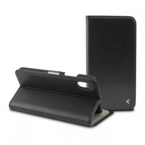 Custodia Folio per Cellulare Iphone Xs KSIX Nero
