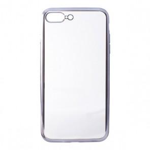 Custodia per Cellulare Iphone 7 Plus/8 Plus Contact Flex Metal TPU Trasparente Grigio Metallizzato