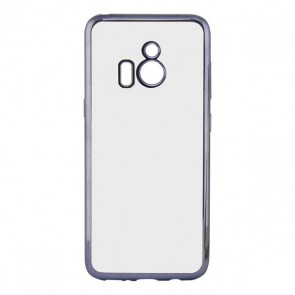 Custodia per Cellulare Huawei Y6 20197 Contact Flex Metal TPU Trasparente Grigio Metallizzato