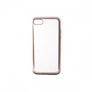 Custodia per Cellulare Iphone 7/8 Contact Flex Metal TPU Trasparente Oro rosa Metallizzato