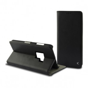 Custodia Folio per Cellulare Galaxy S9 Plus Slim Nero