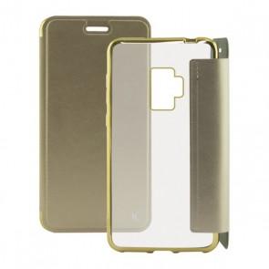 Custodia Folio per Cellulare Galaxy S9 Plus Metal Dorato