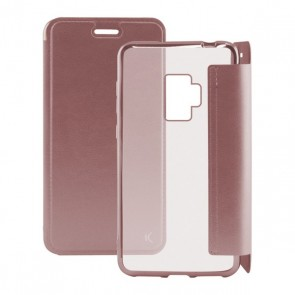 Custodia Folio per Cellulare Galaxy S9 Metal Oro rosa