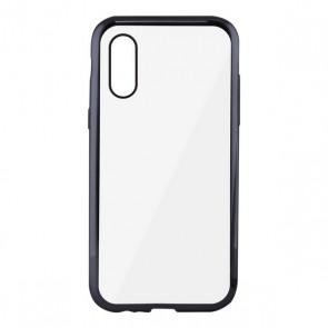 Custodia per Cellulare Iphone Xs Max KSIX Flex Metal Trasparente