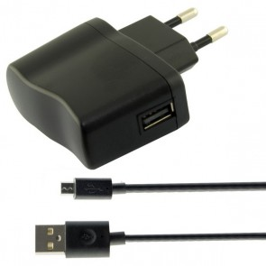 Caricabatterie da Parete USB 2A Nero