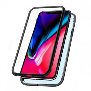Custodia per Cellulare Iphone Xs Max KSIX Magnetic (2 pcs) Nero