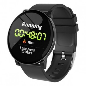 "Smartwatch KSIX Round HR 1,3"" OLED 170 mAh Bluetooth 4.0 Nero"