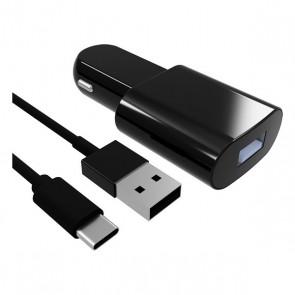 Caricabatterie per Auto Contact USB-C (1 m) Nero