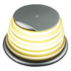 Lampada LED con Caricabatterie Senza Fili per Smartphone Qi