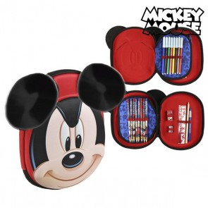 Plumier Triplo Mickey Mouse 8393 Rosso