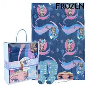 Coperta, Calzini e Mascherina Frozen 79469 (3 Pcs) Azzurro