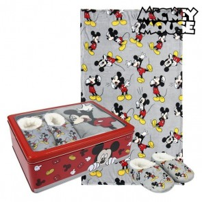Scatola in Metallo con Coperta e Pantofole Mickey Mouse 73668
