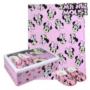 Scatola in Metallo con Coperta e Pantofole Minnie Mouse 73671