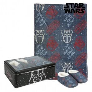 Scatola in Metallo con Coperta e Pantofole Star Wars 73674 (3 pcs) Nero