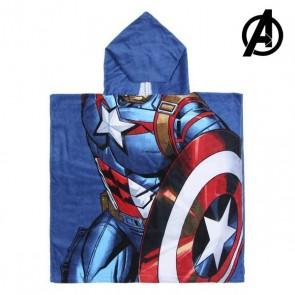 Poncho-Asciugamano con Cappuccio Captain America The Avengers 74171