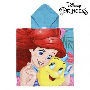 Poncho-Asciugamano con Cappuccio Little Mermaid Princesses Disney 74218