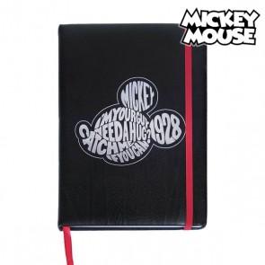 Agenda con Segnalibro Mickey Mouse A5 Nero
