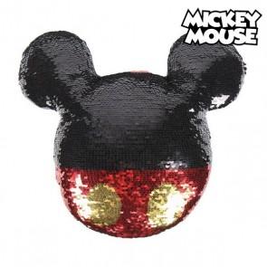 Cuscino Sirena Magica con Paillettes Mickey Mouse 74490 Rosso (30 X 30 cm)