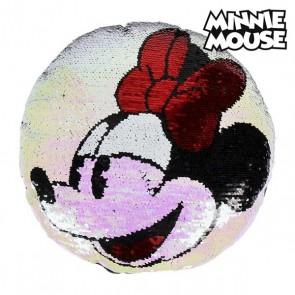 Cuscino Sirena Magica con Paillettes Minnie Mouse 74491 (30 X 30 cm)