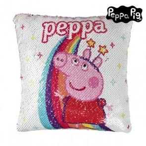 Cuscino Sirena Magica con Paillettes Peppa Pig 74492 Rosa