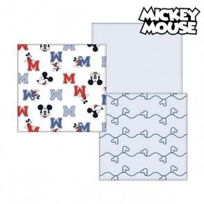 Asciugamano in Mussola Mickey Mouse 75380 Azzurro (Pacco da 3)