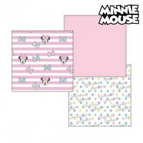 Asciugamano in Mussola Minnie Mouse 75401 Rosa (Pacco da 3)