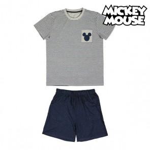 Pigiama Estivo Mickey Mouse Grigio Adulti