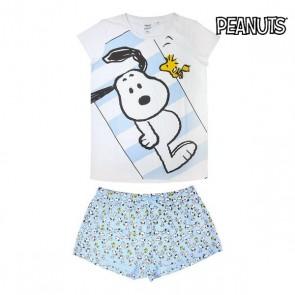 Pigiama Estivo Snoopy Adulto Blu cielo Bianco