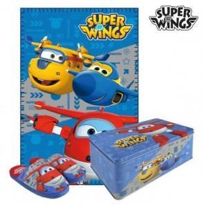 Scatola in Metallo con Coperta e Pantofole Super Wings 70793 (3 pcs) 3 pcs