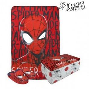 Scatola in Metallo con Coperta e Pantofole Spiderman 70798