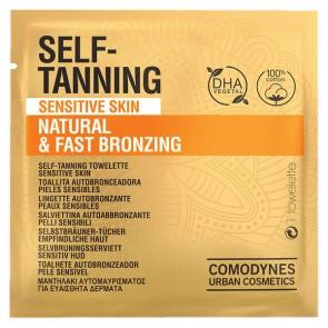 Salviettine Autoabbronzanti Natural & Fast Bronzing Sensitive Skin Comodynes (8 uds)