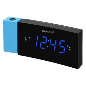 "Radio Sveglia Sunstech 1,2"" LED Nero Azzurro"