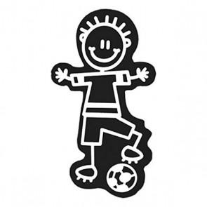 Adesivo per Auto Family Bimbo Pallone da Calcio