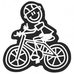 Adesivo per Auto Family Bimbo Bicicletta