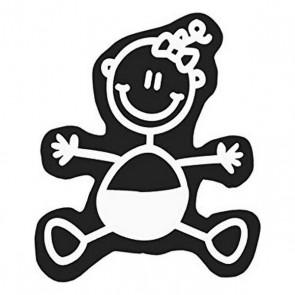 Adesivo per Auto Family Neonato Bambina