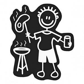 Adesivo per Auto Family Uomo Tavolo da barbecue