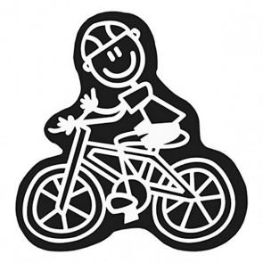 Adesivo per Auto Family Uomo Bicicletta