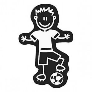 Adesivo per Auto Family Uomo Pallone da Calcio