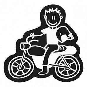 Adesivo per Auto Family Uomo Motocicletta