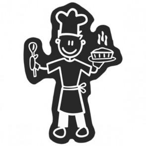 Adesivo per Auto Family Uomo Cucina